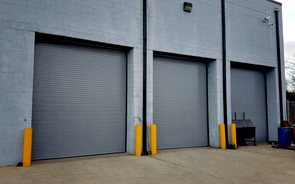 Plainfield, NJ: Cornell Rolling Steel Doors, Insulated, Motor Operated, Grey Finish